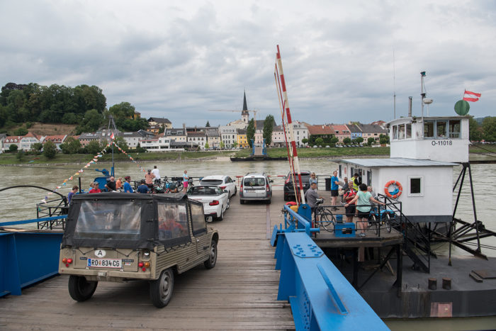 På vei ombord i Ufer