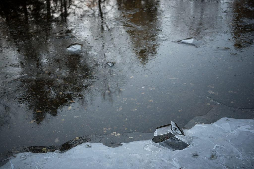 Is i bukten på Milde tirsdag.