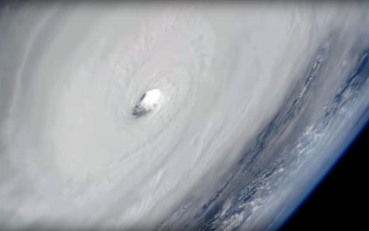 Orkanen Michael fotografert fra ISS 10. oktober 2018