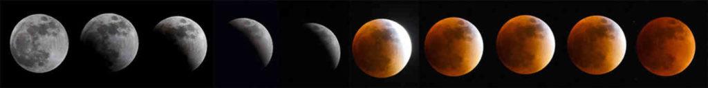 Månen bir gradvis mørkere, og rødere. Foto: Luis Acosta