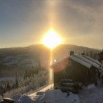 Halo og solhunder på Voss, 15. januar 2017.
